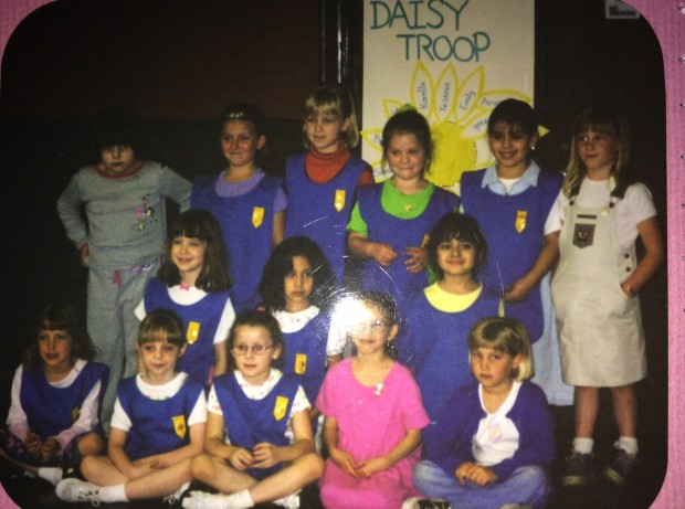 This was the start of Troop #150, when we were just wee little Daisy Girl Scouts.