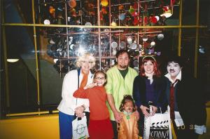 "The year I went as Velma we went to Boo Fest at Museum of Science and Industry. We my mom, dad, Maggie, Aunt Kathleen and I) entered the group costume contest as the Mystery Gang. We got second place because my sister said, ""Hi. My name is Maggie and Im Scooby Doo."" in the cutest voice ever."